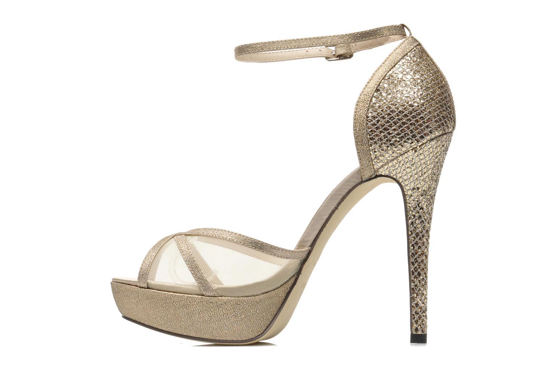 Sandales et nu-pieds Menbur Dahlia Or et bronze vue face