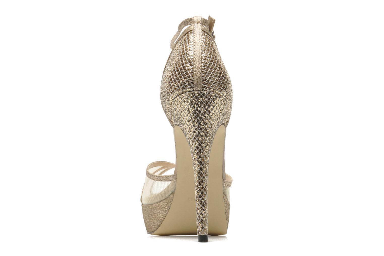 Sandales et nu-pieds Menbur Dahlia Or et bronze vue droite