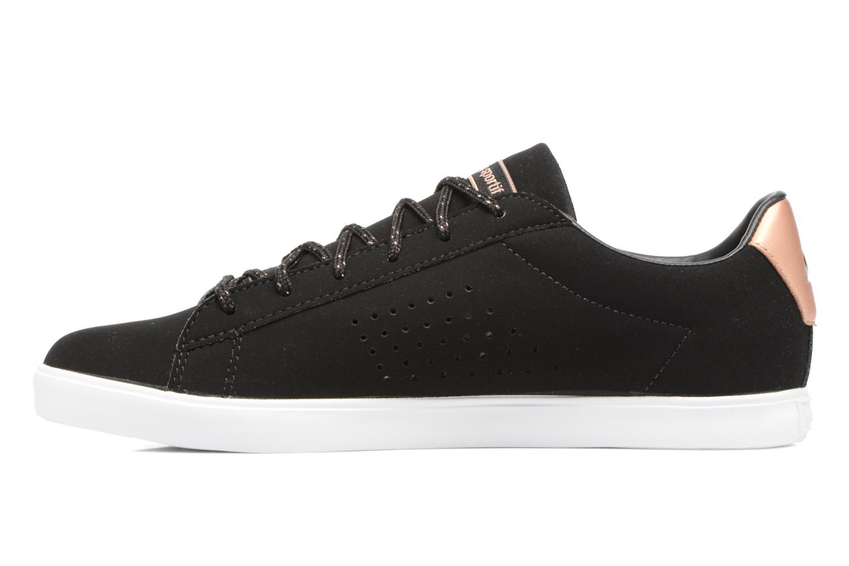 Sneaker Le Coq Sportif Agate LO S schwarz ansicht von vorne