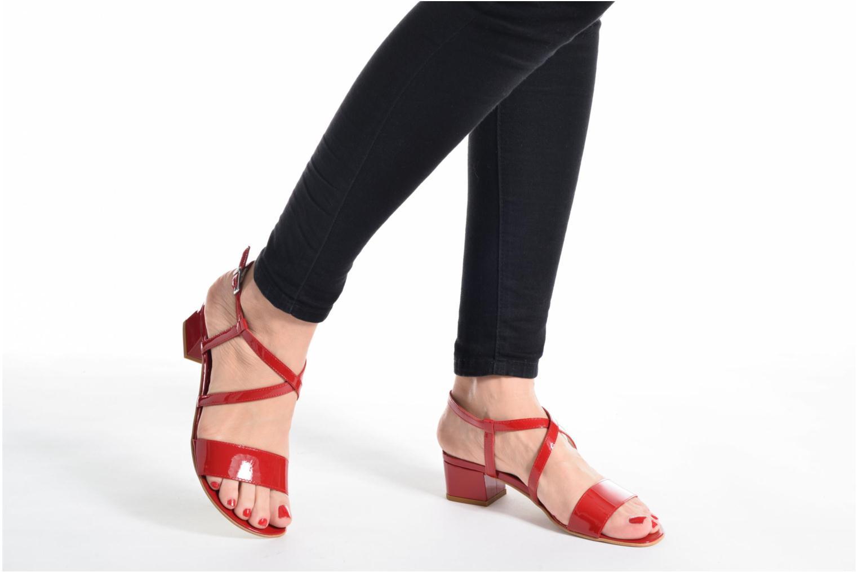 Sandales et nu-pieds Perlato Pasqua Noir vue bas / vue portée sac