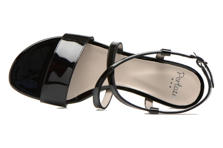 Sandales et nu-pieds Perlato Pasqua Noir vue gauche