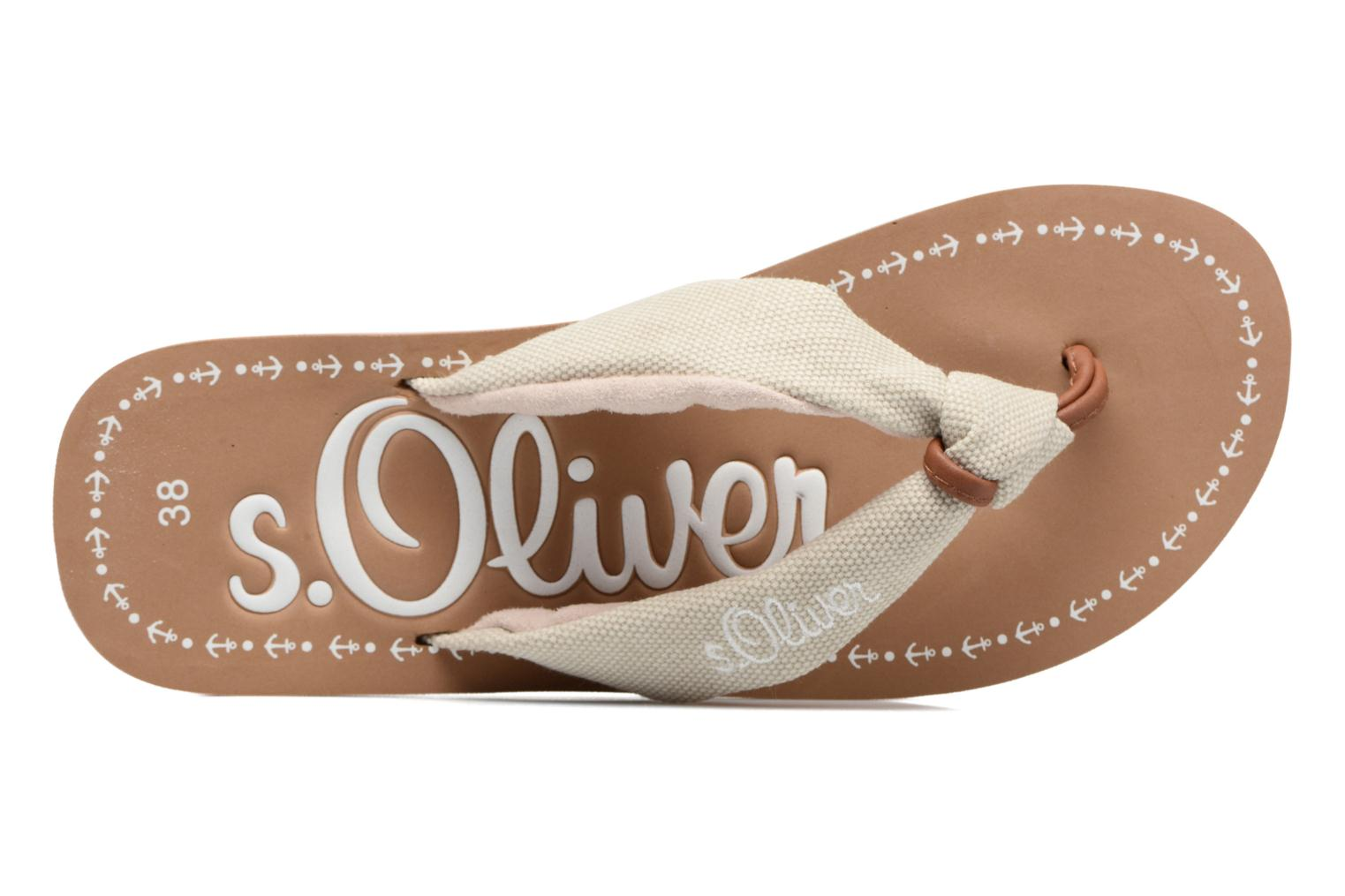 Flip flops S.Oliver Krink Beige view from the left