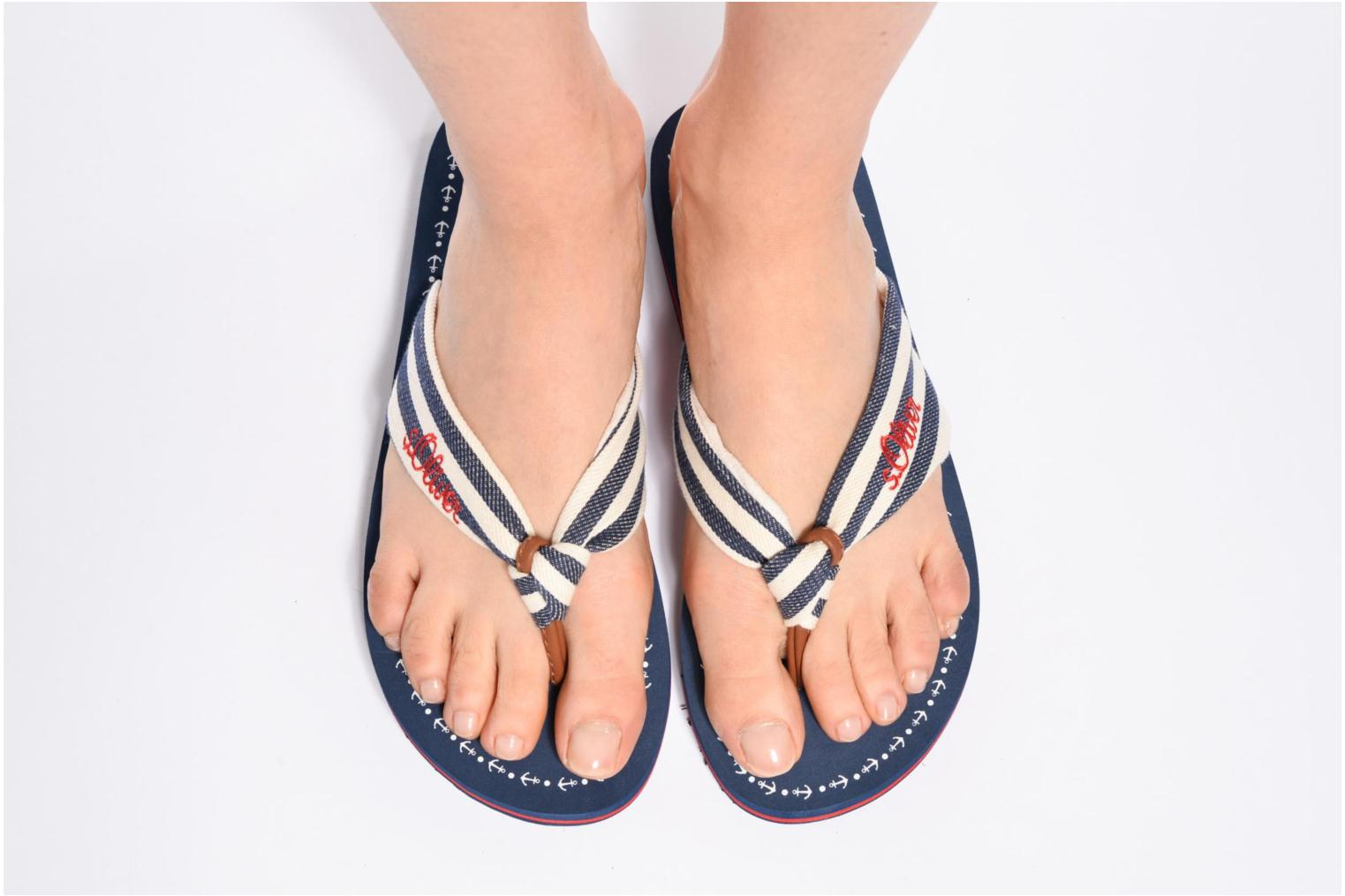 Flip flops S.Oliver Krink Blue view from underneath / model view