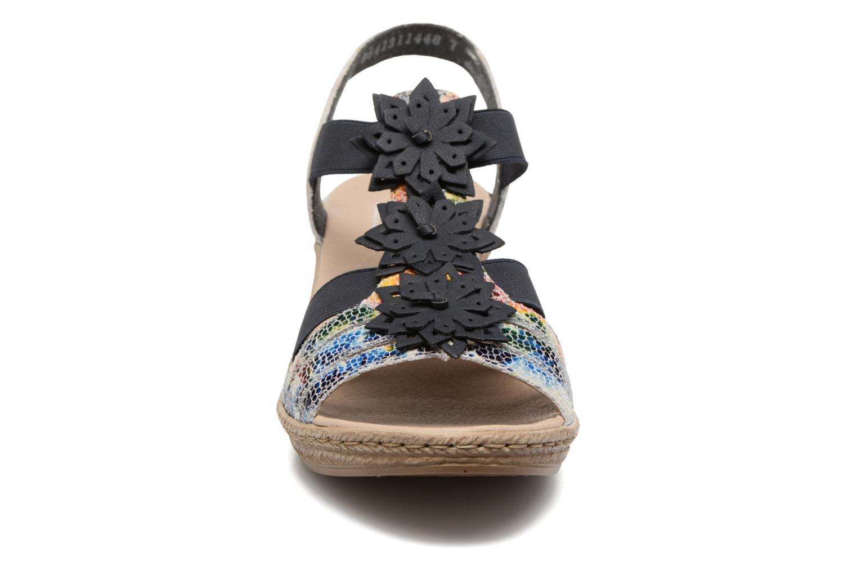 Sandales et nu-pieds Rieker Deena 62461 Bleu vue portées chaussures