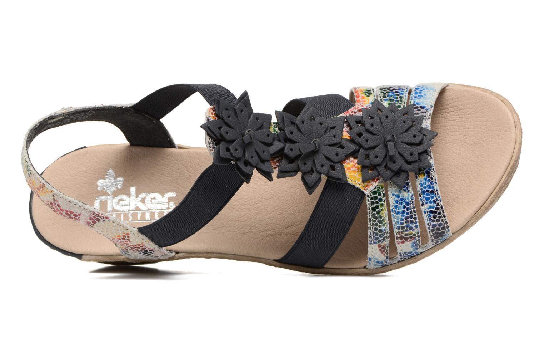 Sandales et nu-pieds Rieker Deena 62461 Bleu vue gauche
