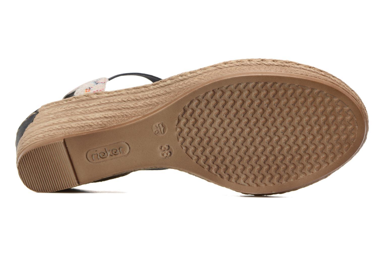 Sandales et nu-pieds Rieker Deena 62461 Bleu vue haut