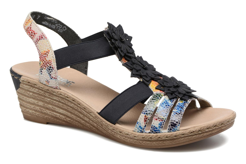Sandales et nu-pieds Rieker Deena 62461 Bleu vue détail/paire