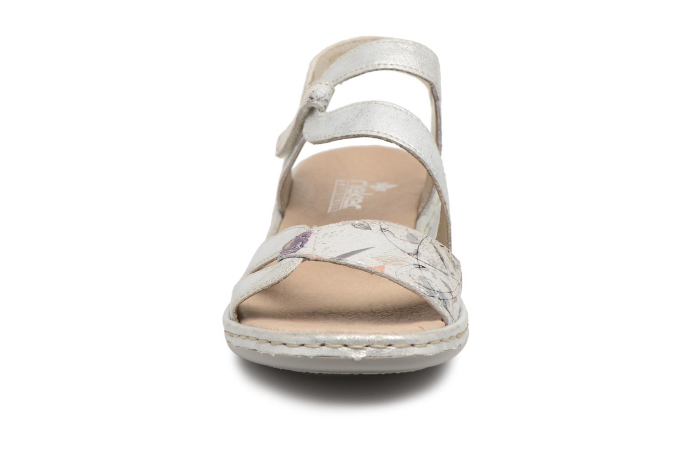 Sandaler Rieker Poppy 65969 Sølv se skoene på