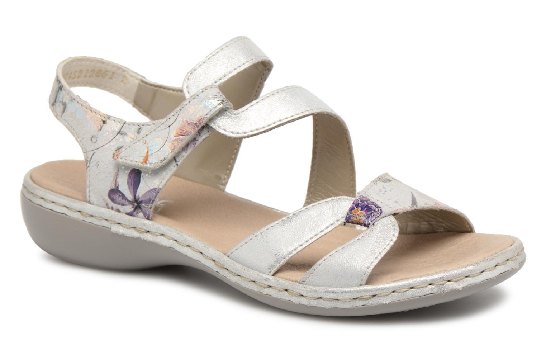 Sandaler Rieker Poppy 65969 Sølv detaljeret billede af skoene