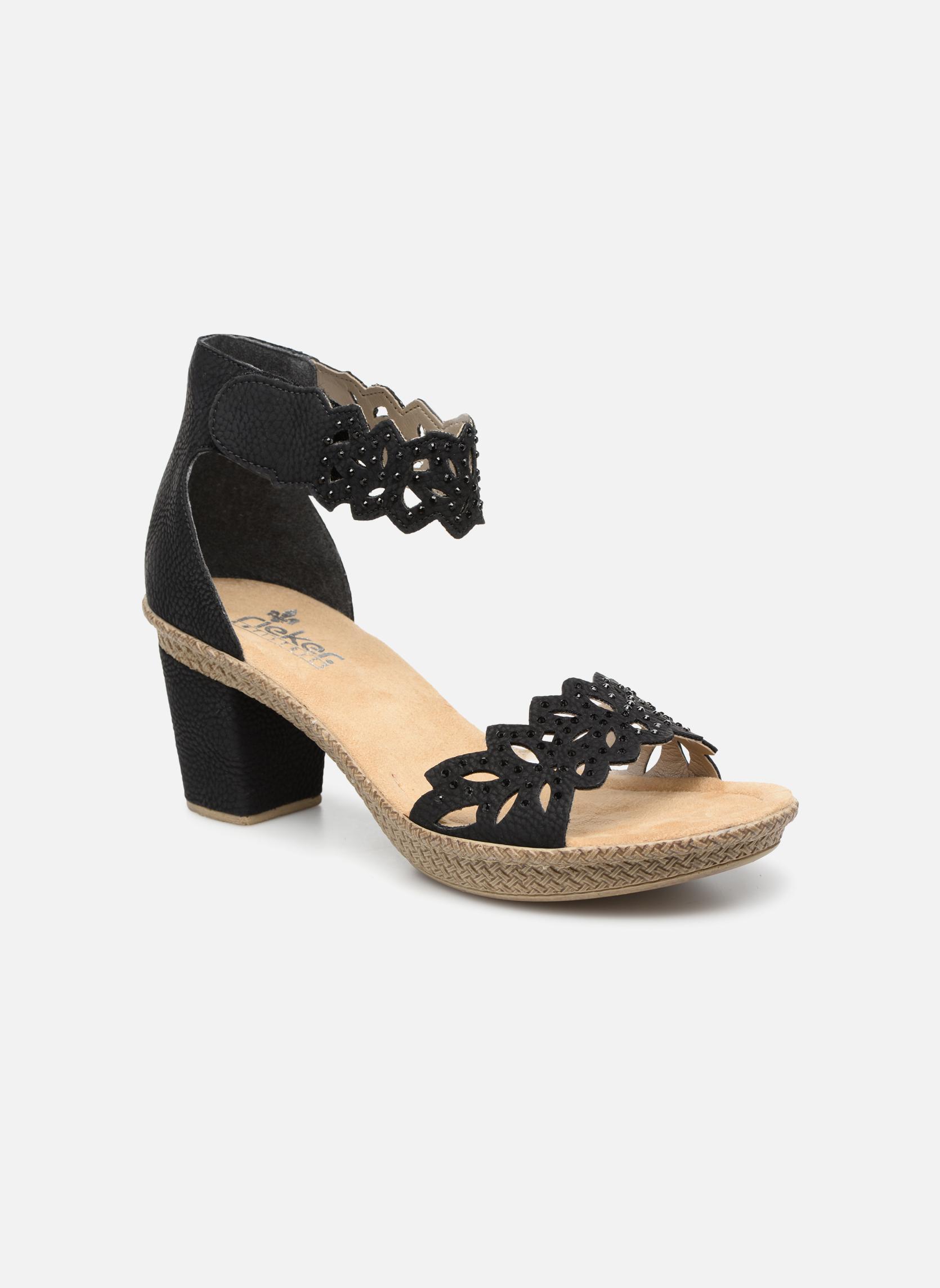 Zapatos promocionales Rieker Killa 66555 (Negro) - Sandalias   Los últimos zapatos de descuento para hombres y mujeres