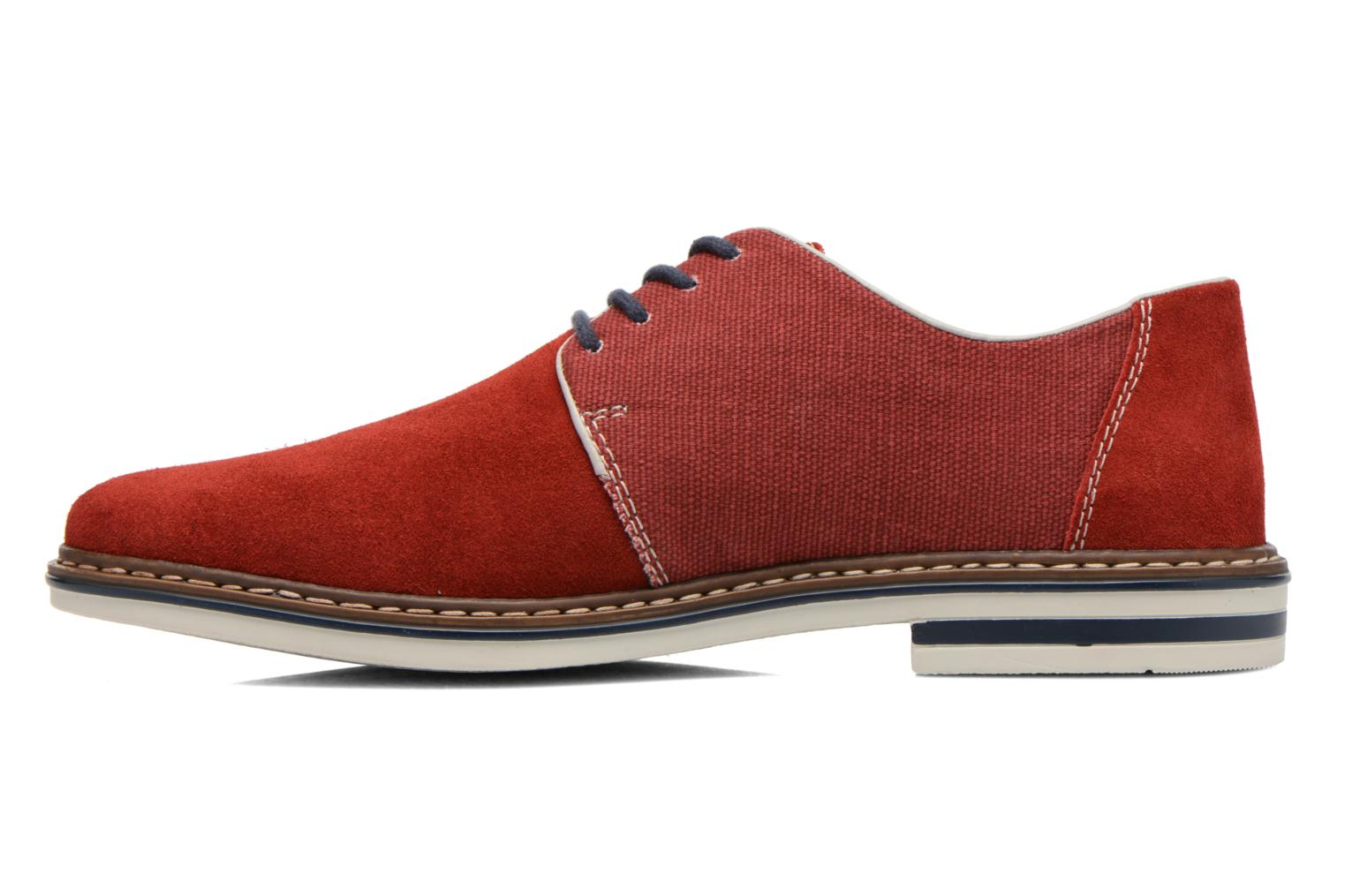 Lace-up shoes Rieker Venel 1402 Red front view