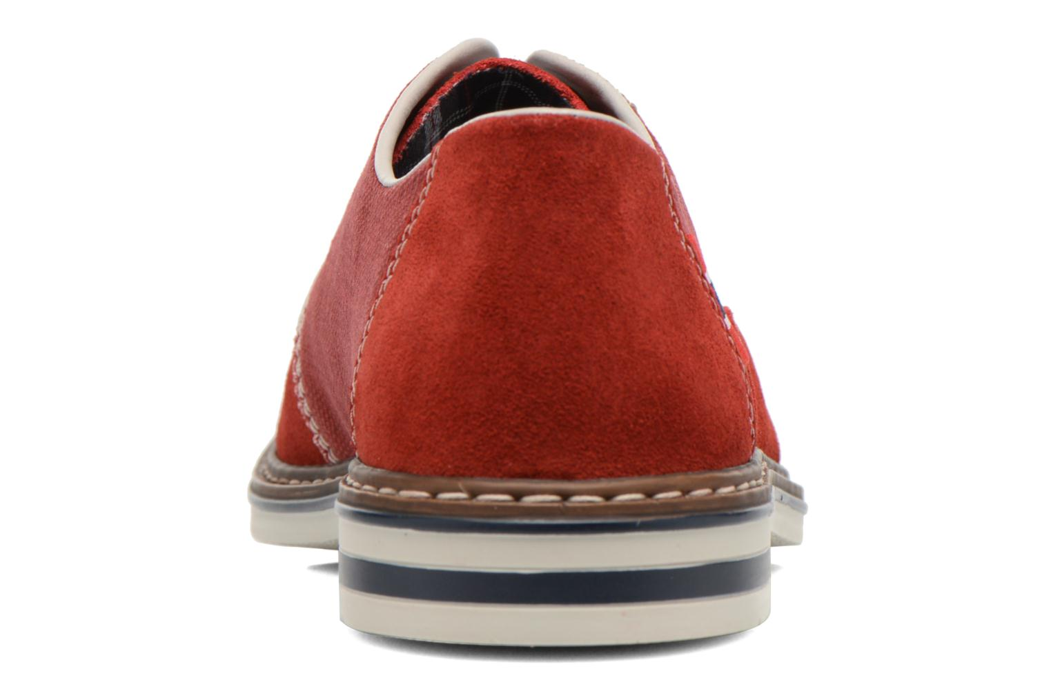Lace-up shoes Rieker Venel 1402 Red view from the right