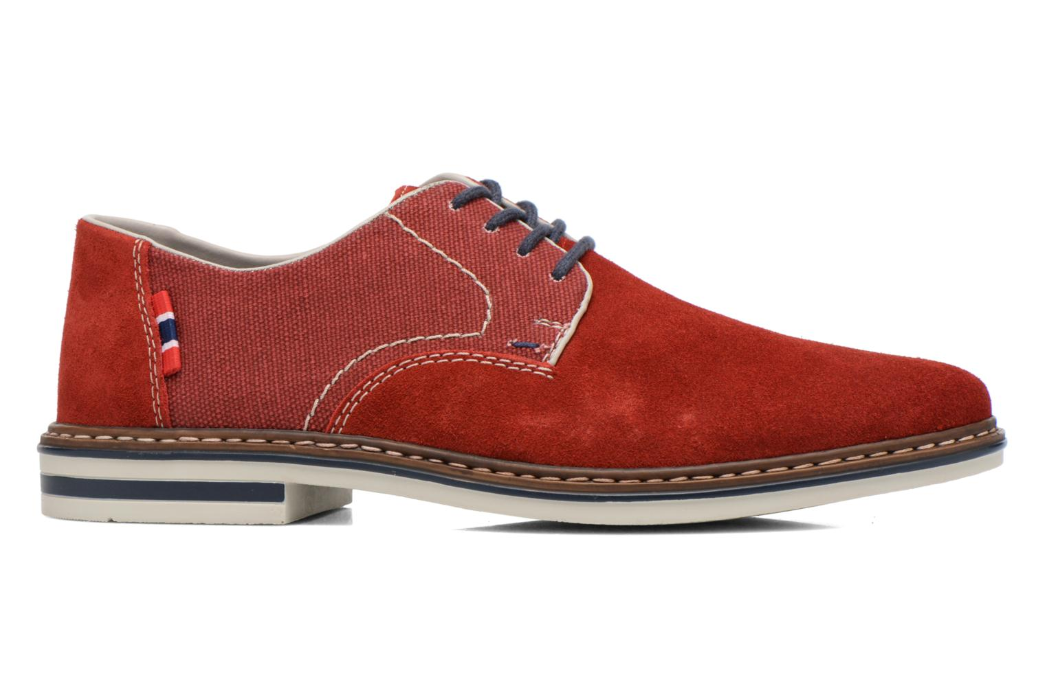 Lace-up shoes Rieker Venel 1402 Red back view