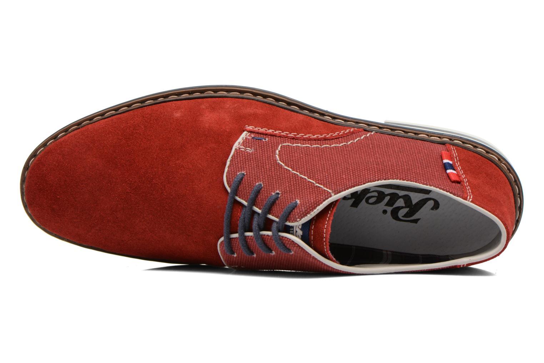 Chaussures à lacets Rieker Venel 1402 Rouge vue gauche