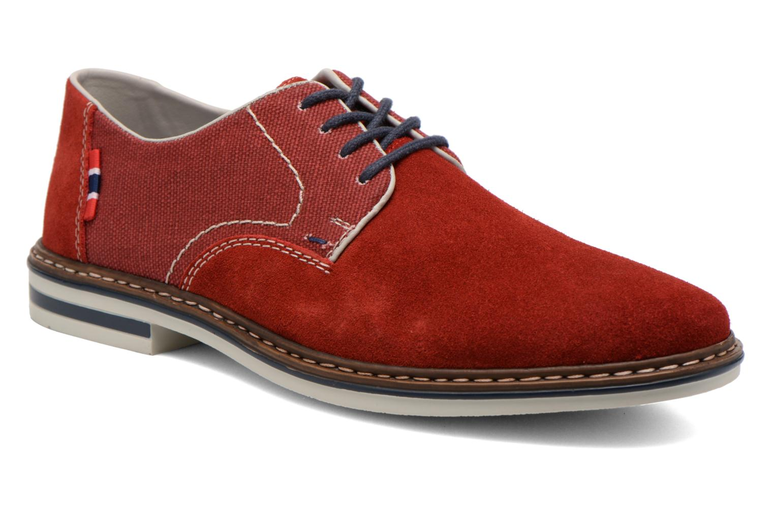 Lace-up shoes Rieker Venel 1402 Red detailed view/ Pair view