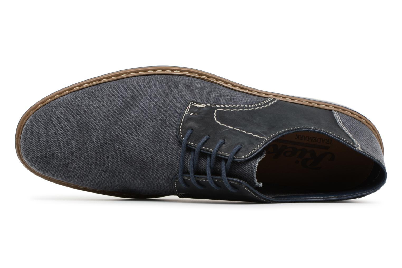 Scarpe con lacci Rieker Brutus 1422 Azzurro immagine sinistra