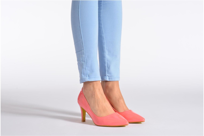Escarpins I Love Shoes Kivari Rose vue bas / vue portée sac