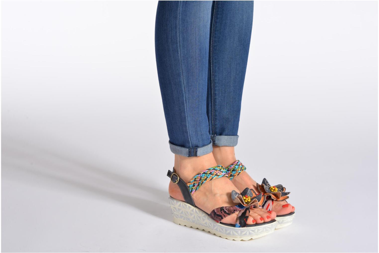 Sandales et nu-pieds Laura Vita Sidi Multicolore vue bas / vue portée sac