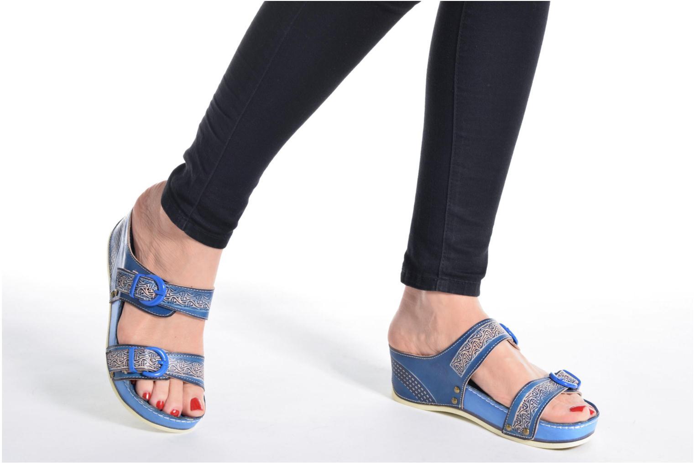 Clogs & Pantoletten Laura Vita Scep blau ansicht von unten / tasche getragen