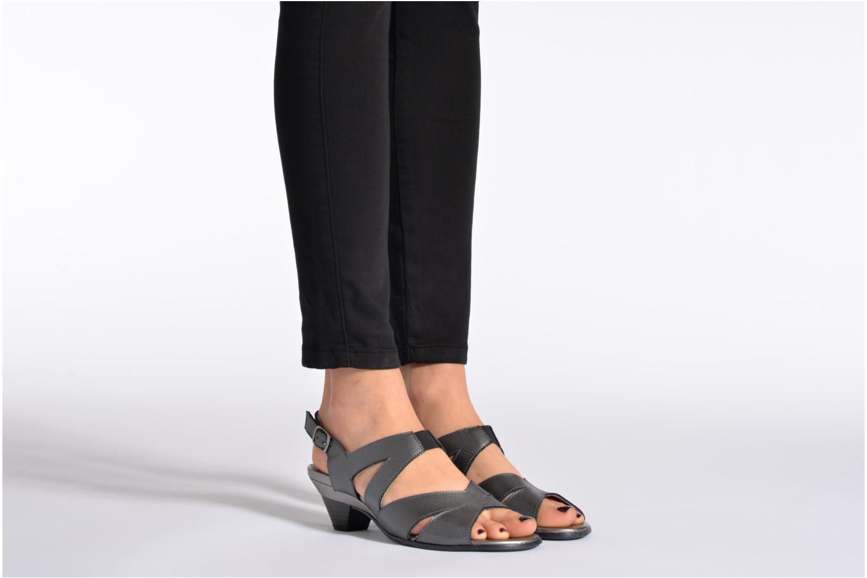 Sandales et nu-pieds Arima pour Elle Poeta Gris vue bas / vue portée sac
