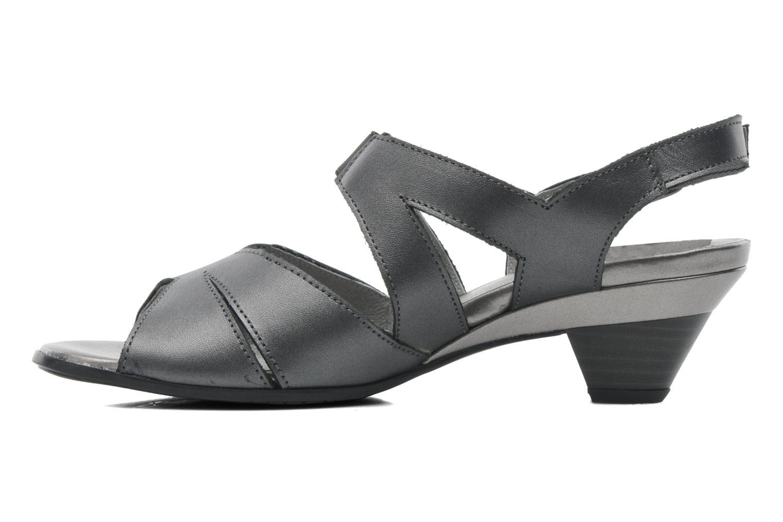 Sandales et nu-pieds Arima pour Elle Poeta Gris vue face