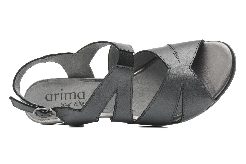 Sandales et nu-pieds Arima pour Elle Poeta Gris vue gauche
