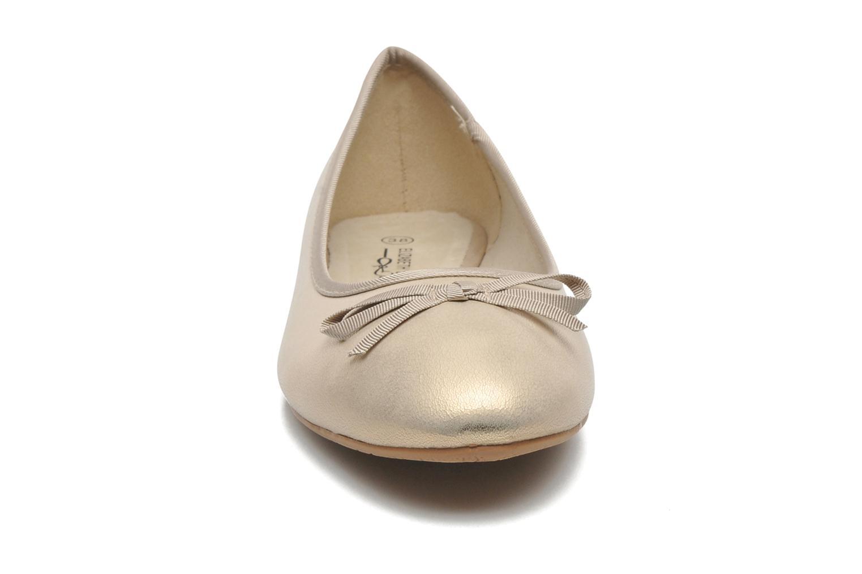 Ballerines Elizabeth Stuart Castel 691 Or et bronze vue portées chaussures