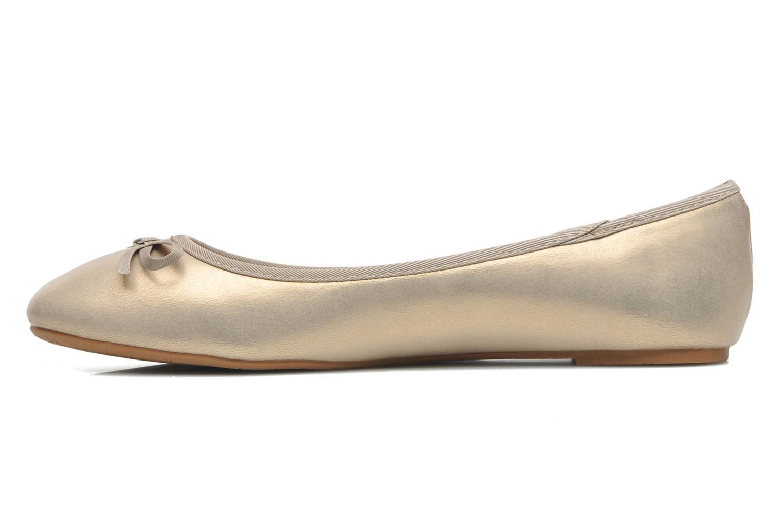 Ballerines Elizabeth Stuart Castel 691 Or et bronze vue face