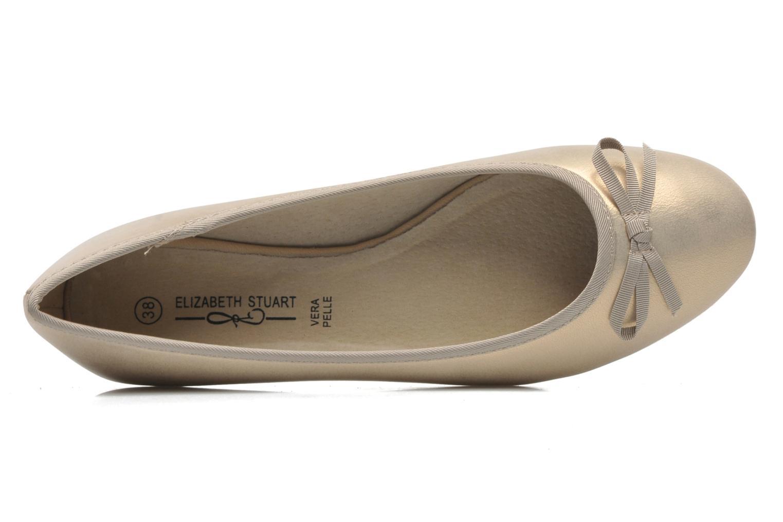 Ballerines Elizabeth Stuart Castel 691 Or et bronze vue gauche