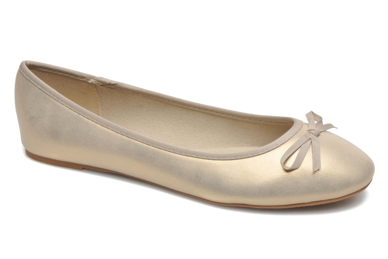 Ballerines Elizabeth Stuart Castel 691 Or et bronze vue détail/paire