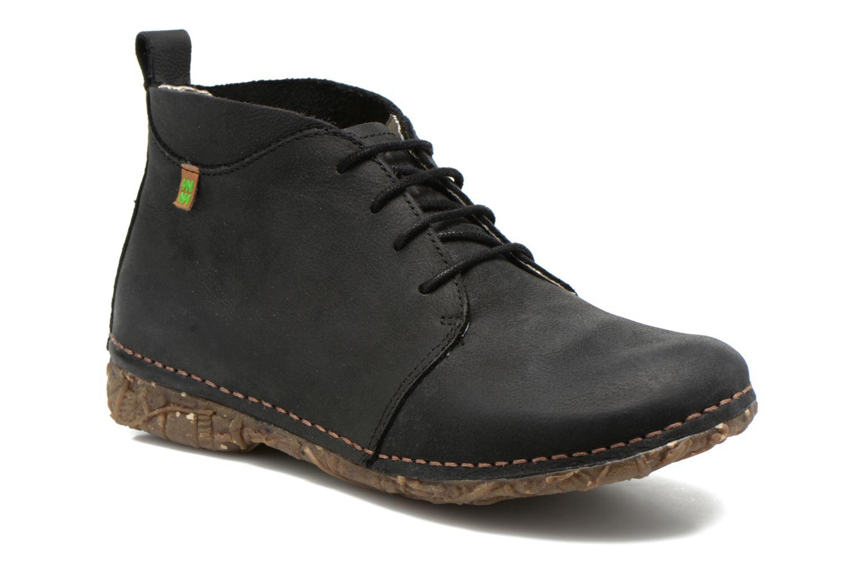 Zapatos con cordones El Naturalista Ankor N974 Negro vista de detalle / par