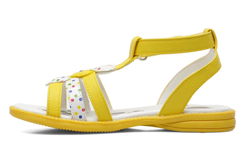 Sandalen Chicco Cristine gelb ansicht von vorne