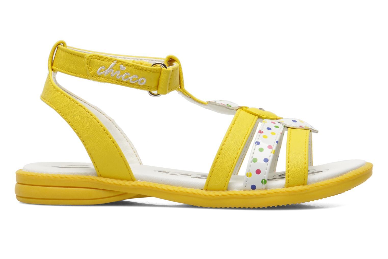 Sandalen Chicco Cristine gelb ansicht von hinten