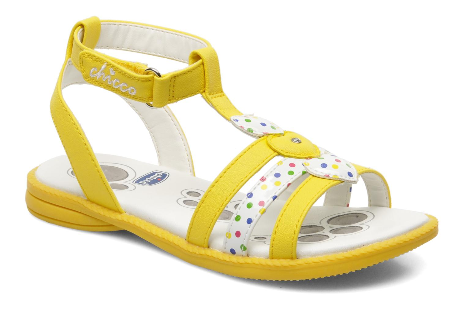 Sandals Chicco Cristine Yellow detailed view/ Pair view