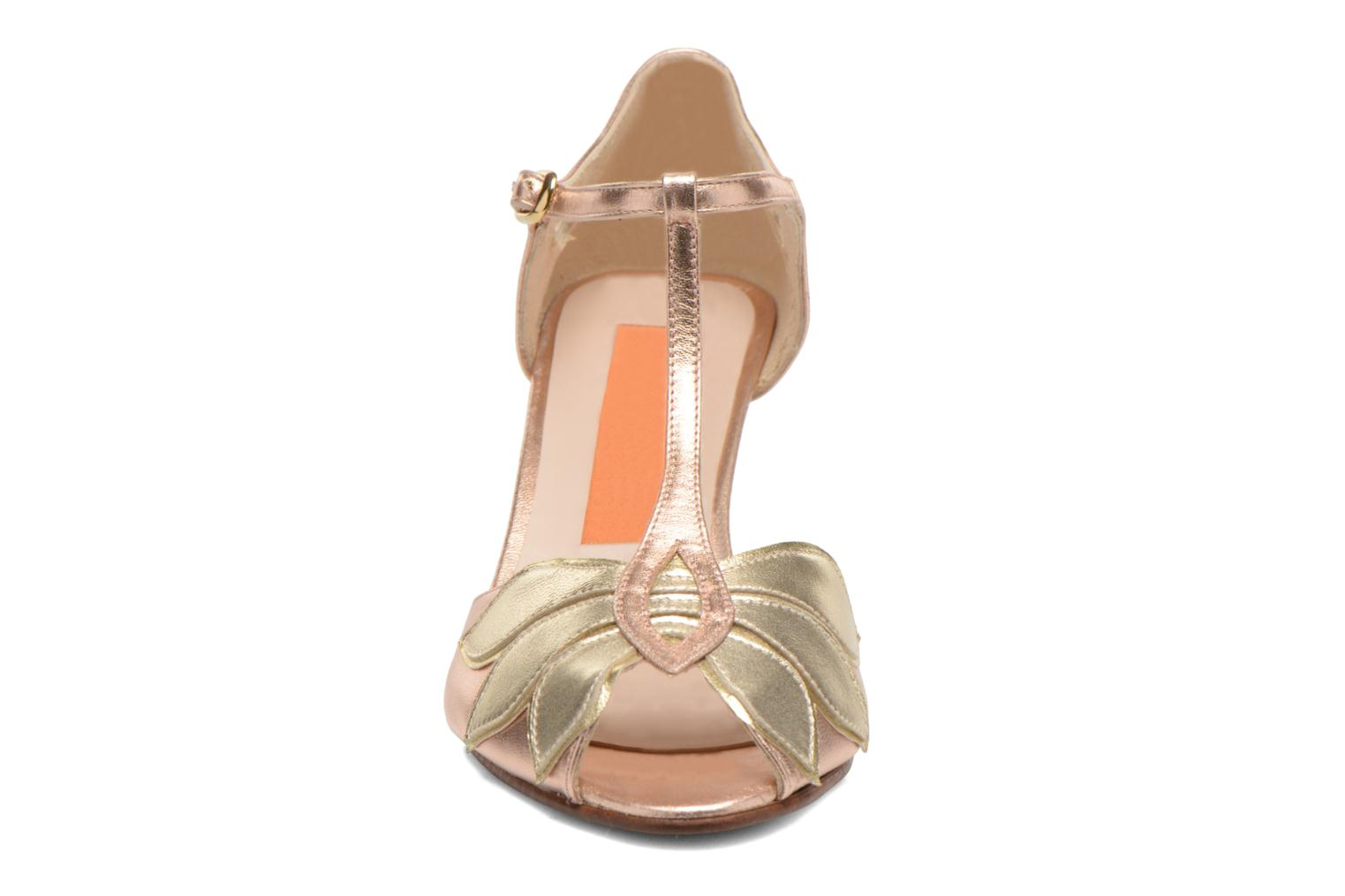 High heels Anna Volodia Mama Bronze and Gold model view