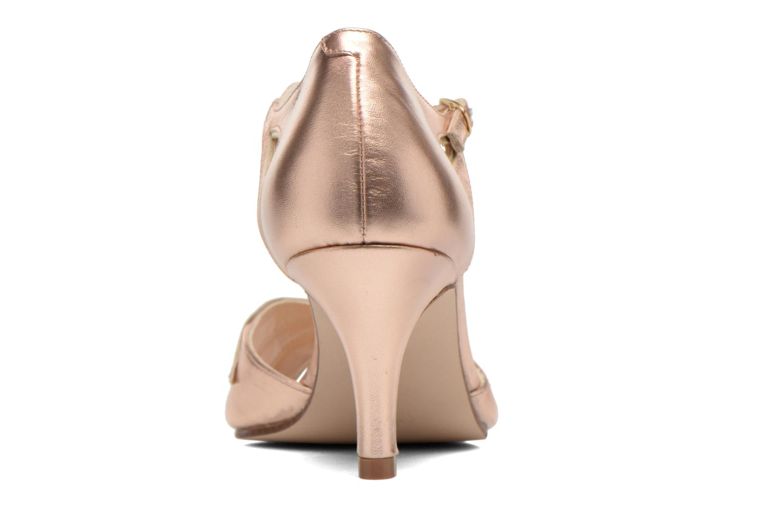 High heels Anna Volodia Mama Bronze and Gold view from the right