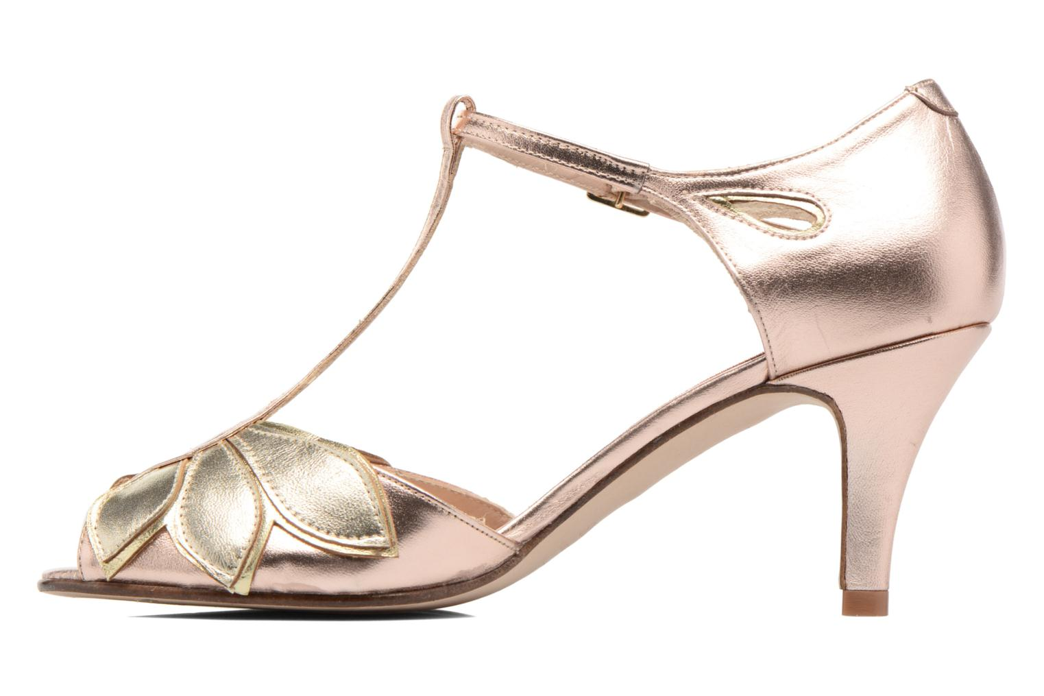 High heels Anna Volodia Mama Bronze and Gold front view