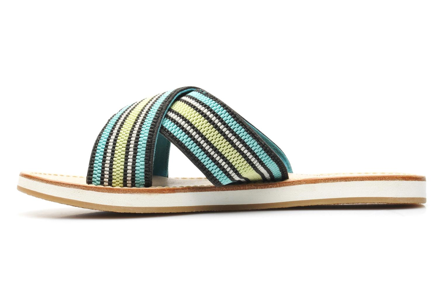 Mules & clogs Mellow Yellow Satine Multicolor front view
