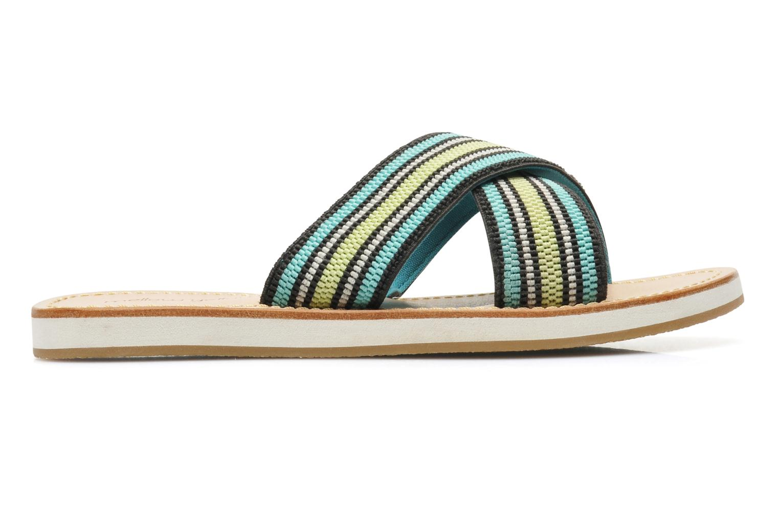 Wedges Mellow Yellow Satine Multicolor achterkant