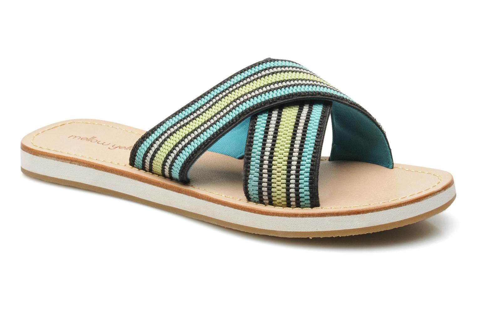 Wedges Mellow Yellow Satine Multicolor detail