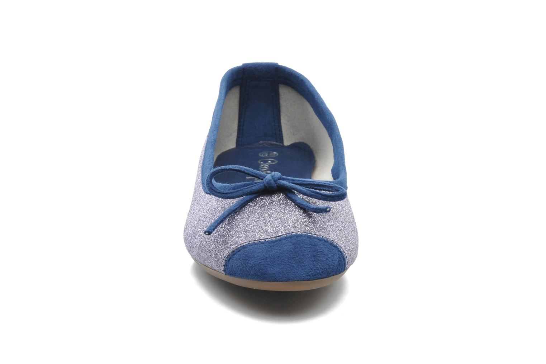 Ballerines Coco et abricot Baptiste Bleu vue portées chaussures