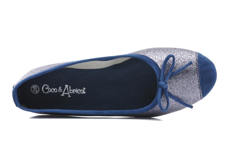 Bailarinas Coco et abricot Baptiste Azul vista lateral izquierda
