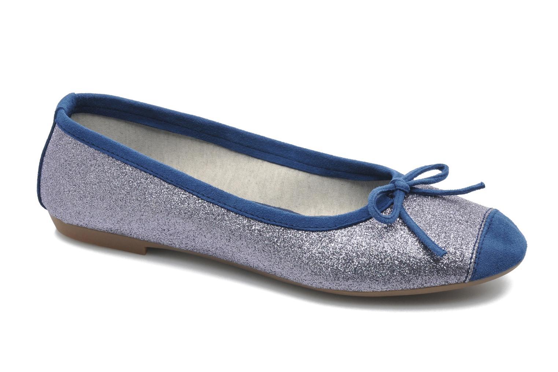 Ballet pumps Coco et abricot Baptiste Blue detailed view/ Pair view
