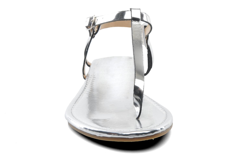 Sandalen Elle Marly silber schuhe getragen