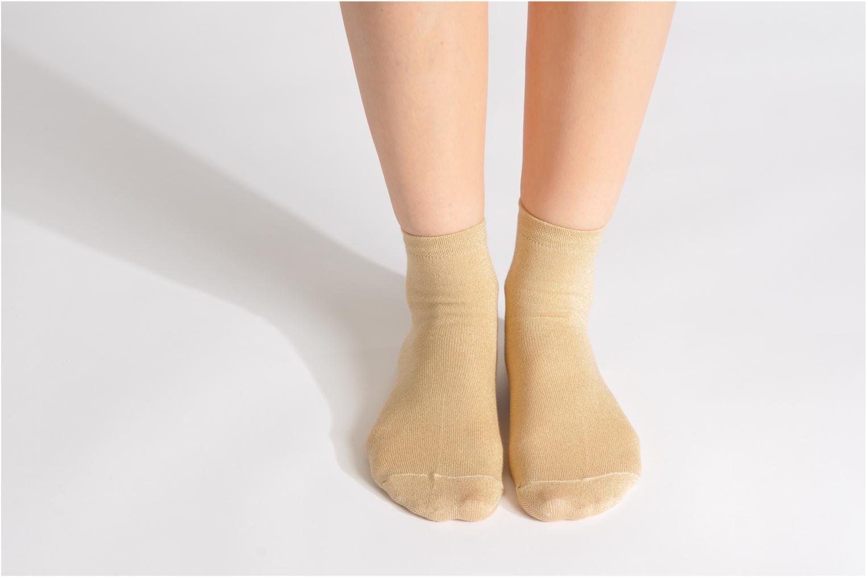 Socken & Strumpfhosen My Lovely Socks Jo gold/bronze ansicht von unten / tasche getragen