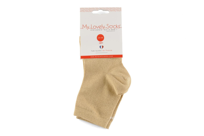 Strømper og tights My Lovely Socks Jo Guld og bronze se bagfra