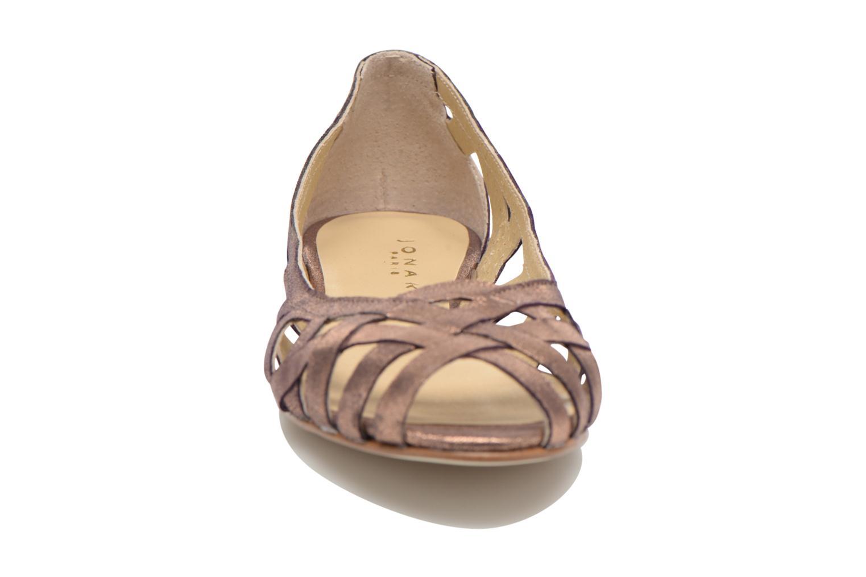 Ballerines Jonak DERAY Or et bronze vue portées chaussures