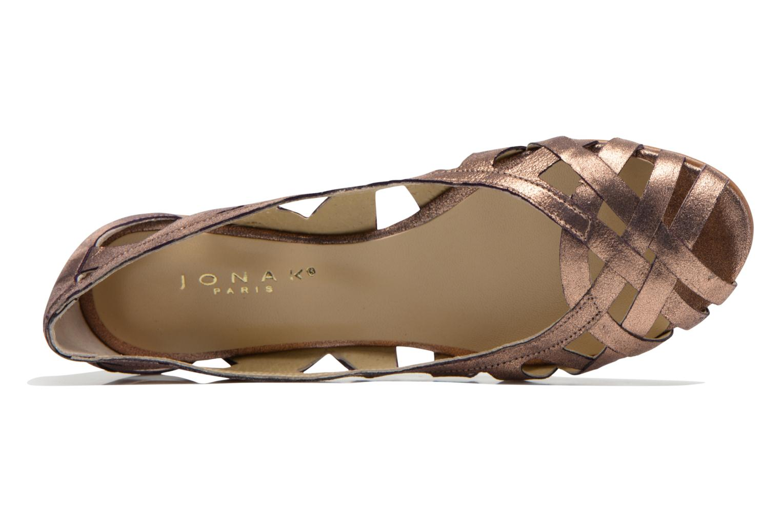 Ballerinas Jonak DERAY gold/bronze ansicht von links