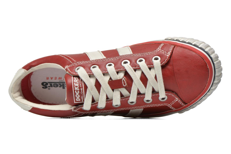 Sneaker Dockers Suit rot ansicht von links