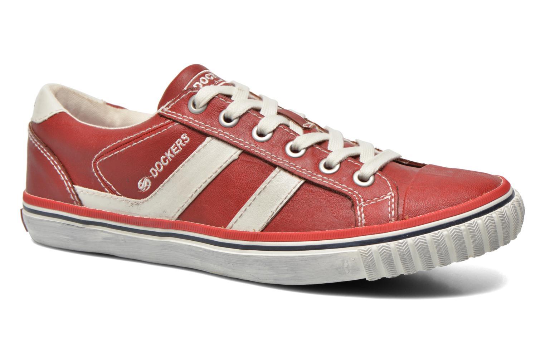 Baskets Dockers Suit Rouge vue détail/paire